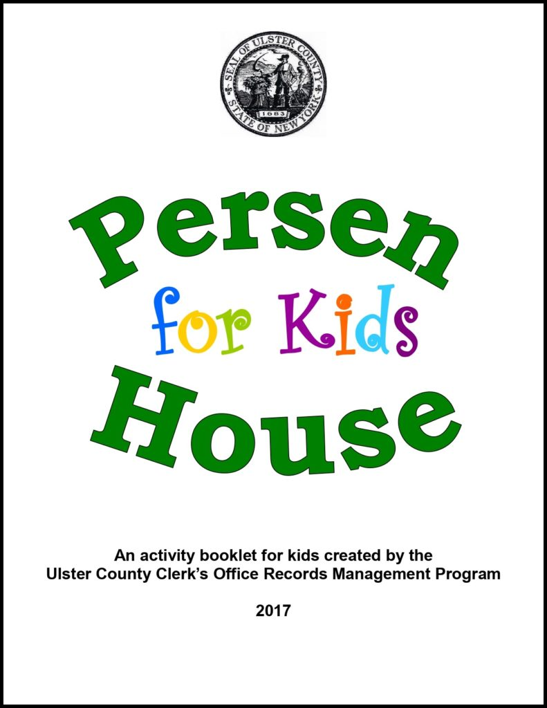 Persen House Activity Book with Border