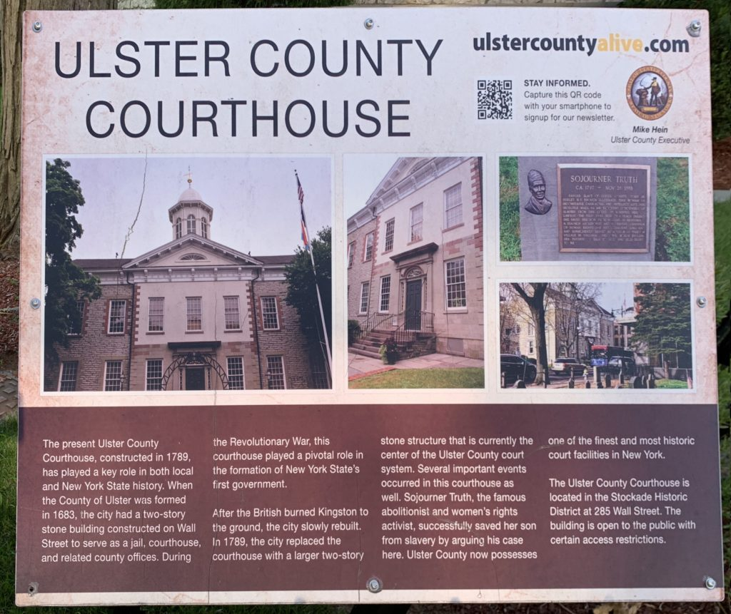 Ulster County Courthouse plaque
