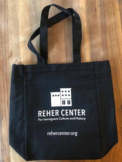 Reher Center Tote Bag - front