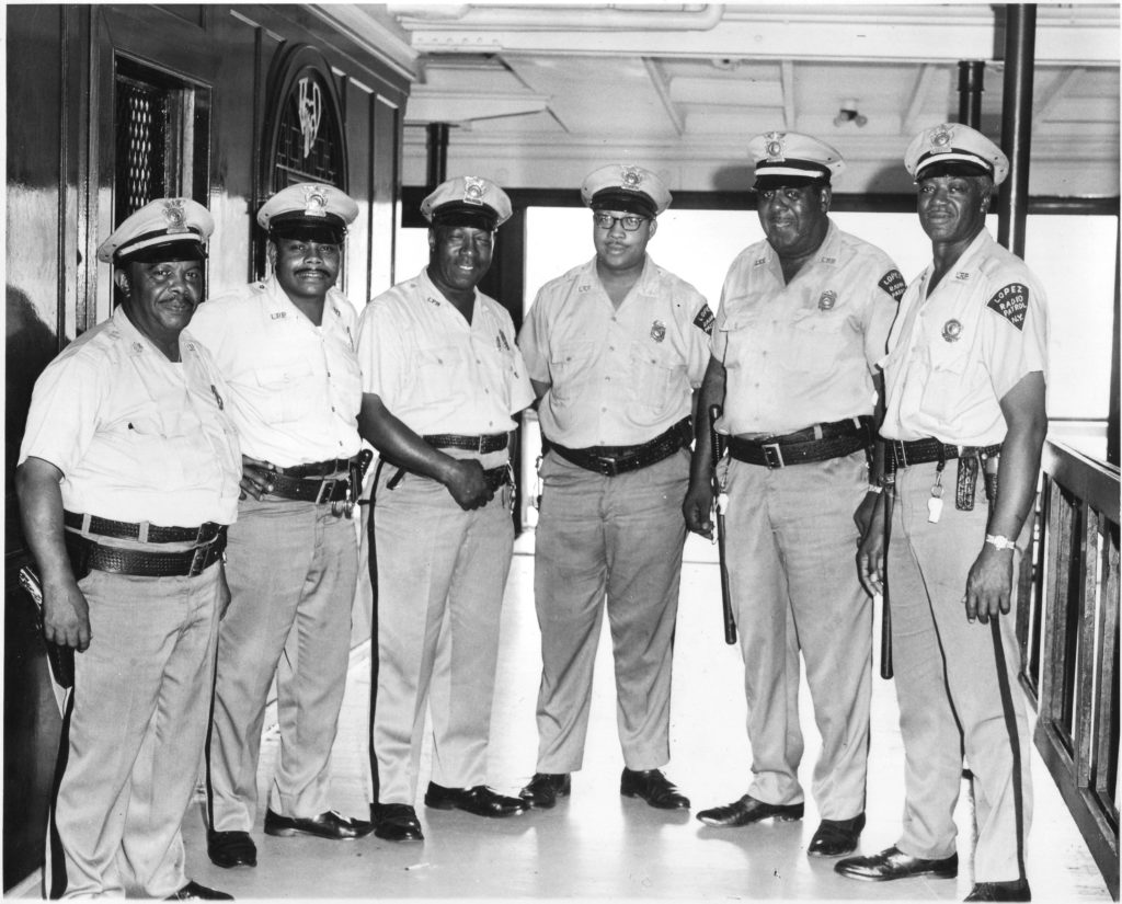 Members of the Lopez Radio Patrol, Hudson River Day Line security guards